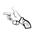 hand as gun vector image