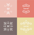 Linear set of ornaments for text or logo vector image