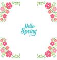 Spring Floral Decorating Frame vector image