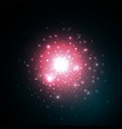 star burst with sparkles in space red glow light vector image