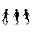 little girl running vector image