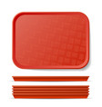 red plastic tray salver classic vector image