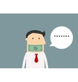 Silent businessman gagged with money vector image vector image