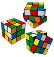 Rubik's cube puzzle vector image