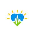 heart beat love medical logo vector image