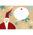 Santa claus merry christmas greeting card snow vector image vector image