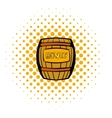 Barrel with honey icon comics style vector image