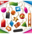 tags and labels vector image