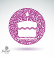 Cake with candle icon vector image vector image