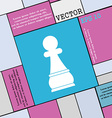 Chess Pawn icon sign Modern flat style for your vector image