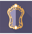 Digital golden and purple vintage mirror vector image