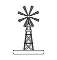 flat line windmill design vector image