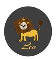 Happy Leo sticker hand drawn of a vector image