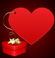 heart gift present vector image