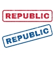 Republic Rubber Stamps vector image