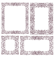 set vintage frame with floral ornament vector image