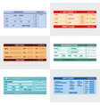 ticket airline banner horizontal set flat style vector image