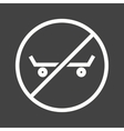 No Skating vector image