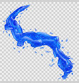 water splashes with water drops vector image vector image