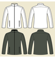 Jacket template - front and back vector image
