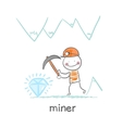 miner found a gem vector image vector image