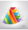 3d cone business infographics diagram vector image
