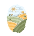 Autumn field sketch for your design vector image vector image