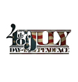 4th of July Cut Out Day of Independance vector image