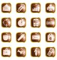 square brown high-gloss office buttons vector image