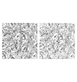 flower semless set grey 2 vector image