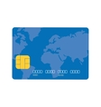 blue credit card global bank vector image