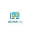check book business logo vector image