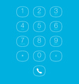Phone Outline Keypad for Touchscreens vector image