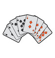 poker deck cards gambling diamond and spade suit vector image