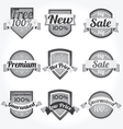 retro satisfaction labels vector image