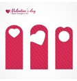 Set of three valentines day themed door hangers vector image
