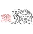 Vintage royal lion for heraldry or tattoo design vector image