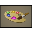 Color Pallete and Brush vector image