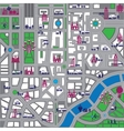 Map city vector image vector image