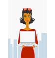 Secretary and laptop vector image vector image