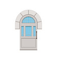 classic white arched front door to house closed vector image