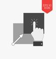 Copy paste icon Flat design gray color symbol vector image