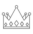 crown monarchy jewelry luxury gem vector image