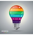 lightbulb for infographic vector image