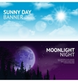 Night and day banner set vector image