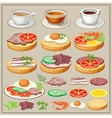 Set of breakfasts vector image