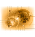 Tech background in the bronze color vector image