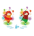 The signs of the zodiac Guinea pig Leo vector image