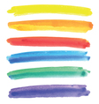 Watercolor multicolored stripes vector image
