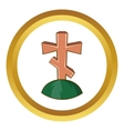 Grave cross icon vector image